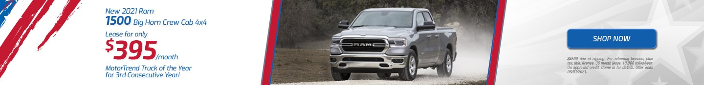 New 2021 Ram 1500 Big Horn Crew Cab 4x4 | May Offer
