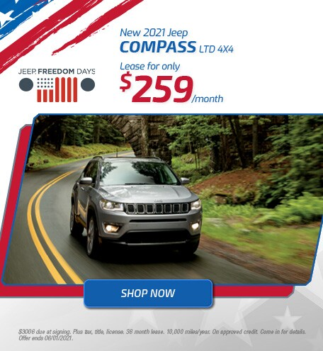 New 2021 Jeep Compass LTD 4x4 | May Offer