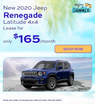 2020 Jeep Renegade - June Offer