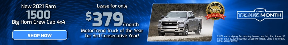 New 2021 Ram 1500 Big Horn Crew Cab 4x4 | April