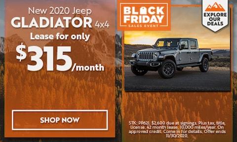2020 Jeep Gladiator - November Offer