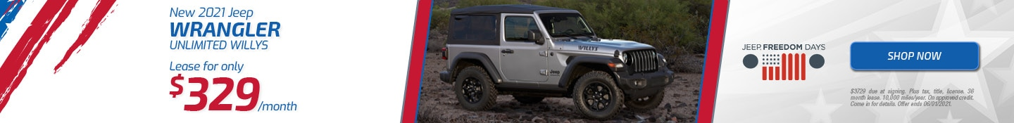 New 2021 Jeep Wrangler Unlimited WIllys | May Offer