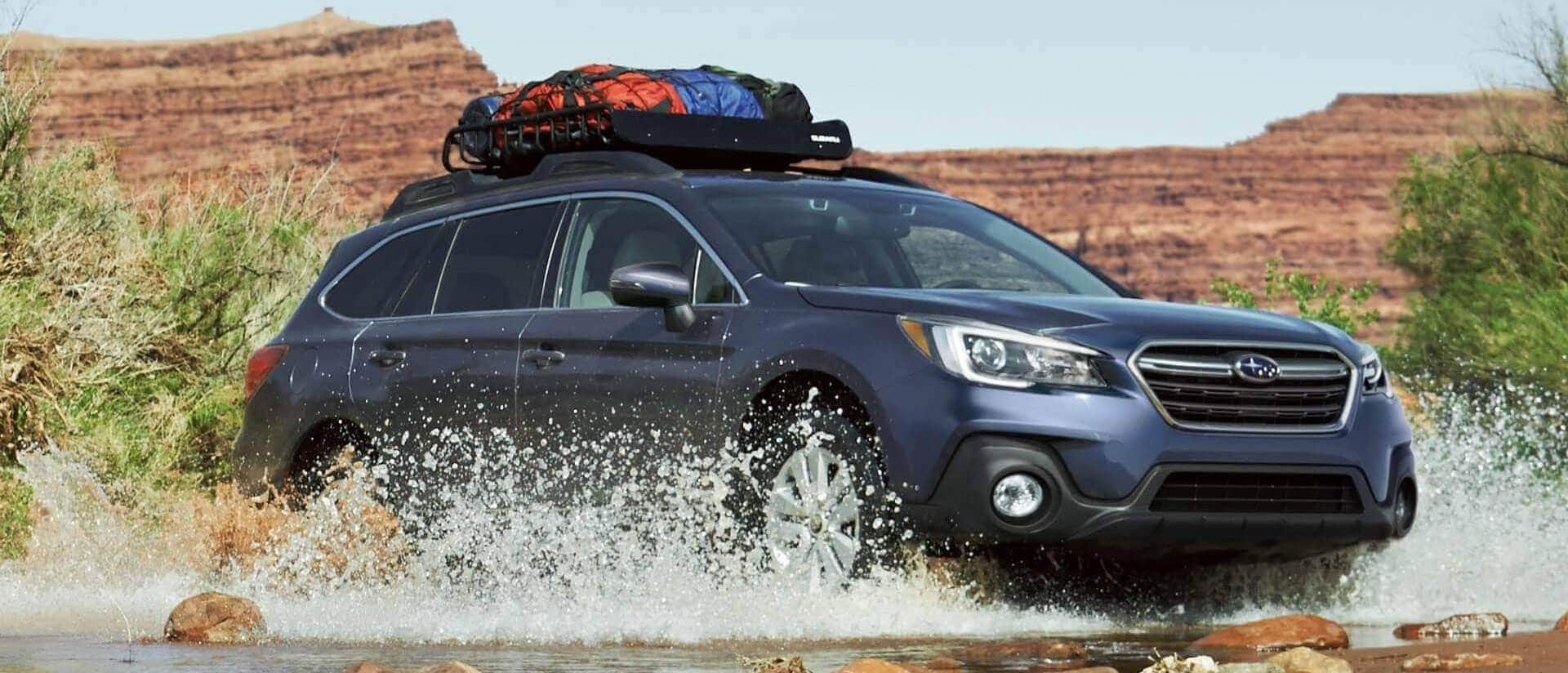 2018 Subaru Outback crossing a river