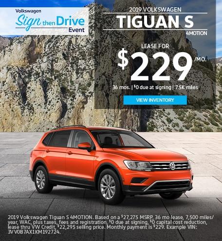 Volkswagen Tiguan Lease Offer