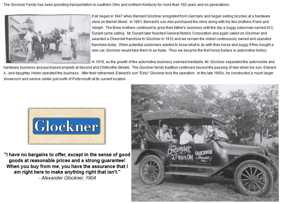 Glockner History Glockner Toyota Portsmouth Oh 45662