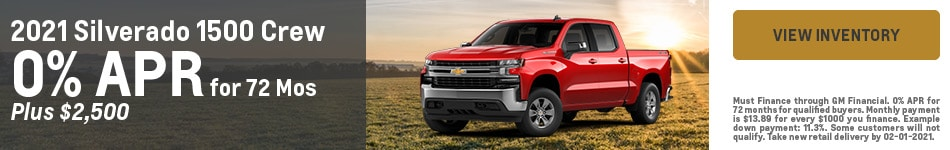 2021 Chevrolet Silverado 1500 Crew - Customer Cash
