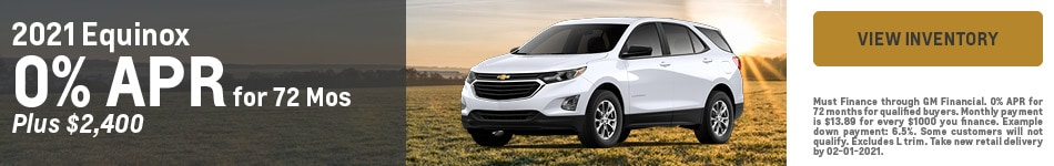 2021 Chevrolet Equinox - Customer Cash