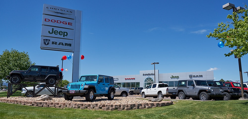 Exterior view of Autonation Chrysler Dodge Jeep Ram Southwest serving Denver