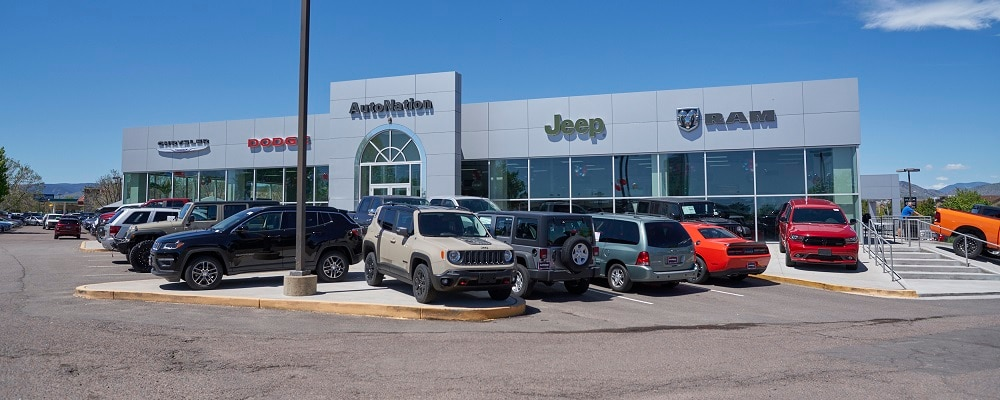 Exterior view of Autonation Chrysler Dodge Jeep Ram Southwest during the day