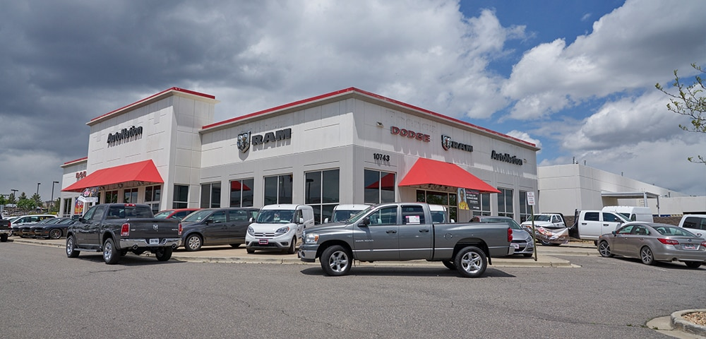 Exterior view of Autonation Dodge Ram Arapahoe serving Aurora
