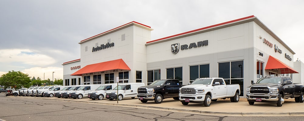 Exterior view of Autonation Dodge Ram Arapahoe during the day