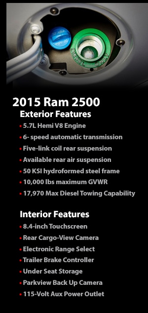 Learn More About the Tough 2015 Ram 2500 Pickup