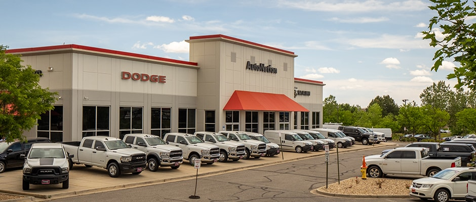 Outside view of Autonation Dodge Ram Arapahoe