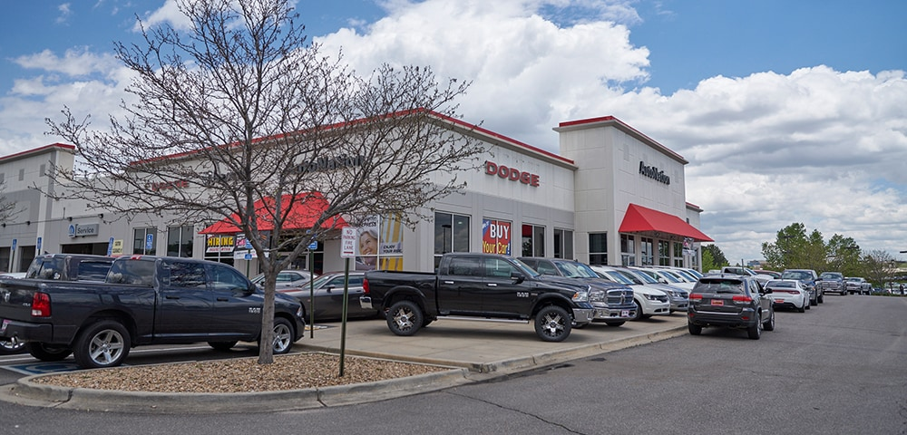 Exterior view of  Autonation Dodge Ram Arapahoe serving Centennial