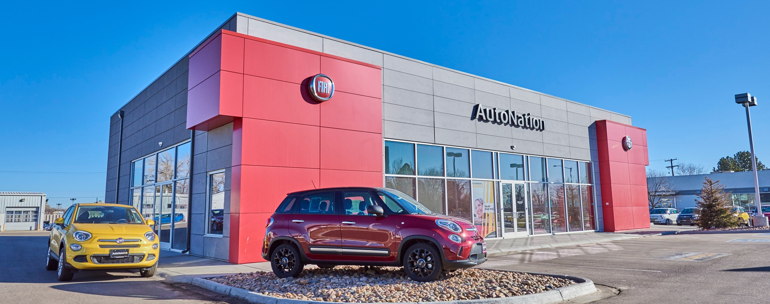 Exterior view of AutoNation FIAT North Denver serving Boulder