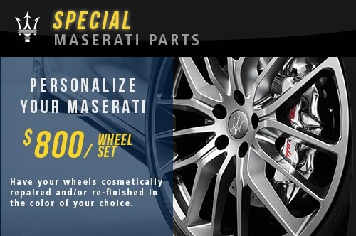 Custom Maserati Wheel Color Special