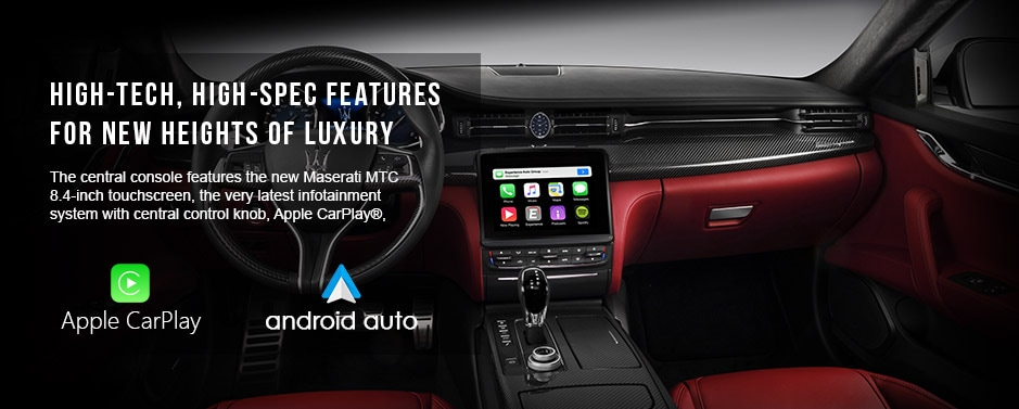 Apple Carplay and Android Auto features in Maserati Quattroporte