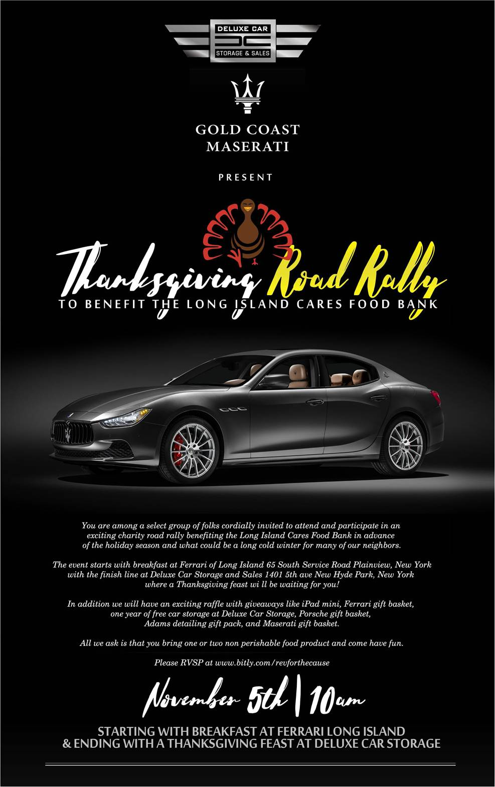Thanksgiving Exotic Car Rally this November 5th