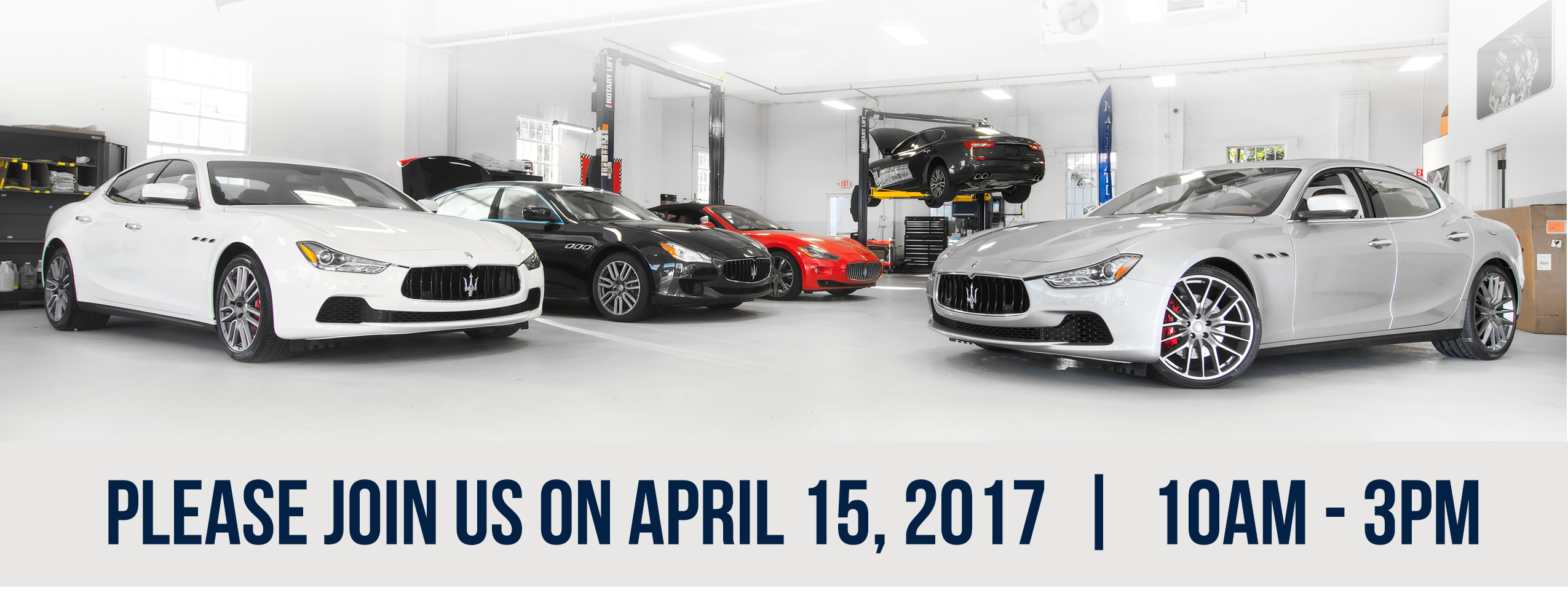 Maserati New Owners Service Clinic on April 15th