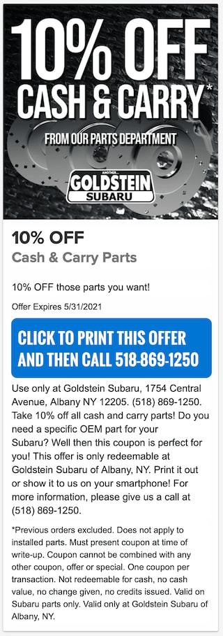 10pct Cash and Carry Parts
