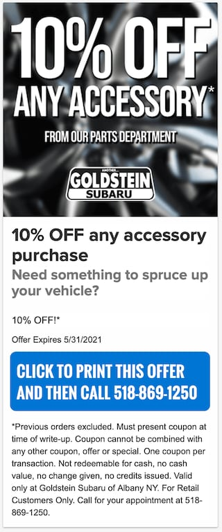 10pct off Accessory Special