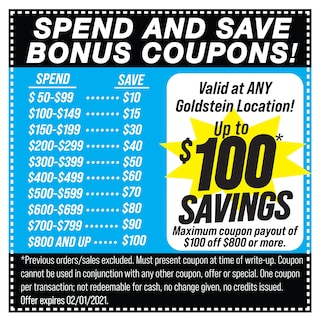 Spend and Save Bonus Coupon