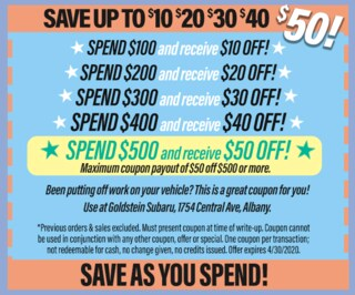 Save As You Spend - Spring Special