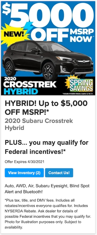 Crosstrek Hybrid 5000 off