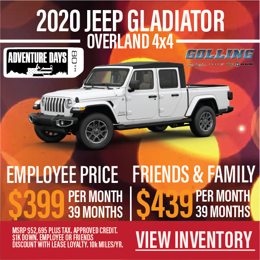 Jeep Gladiator Lease Offers Golling Chrysler Dodge Jeep Ram Of Bloomfield