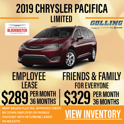 Chrysler Pacifica Lease >> Chrysler Pacifica Lease Offers Golling Chrysler Dodge Jeep Ram Of