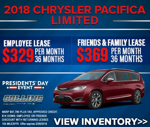 Chrysler Incentives Golling CDJR Bloomfield Birmingham MI - Chrysler lease specials michigan