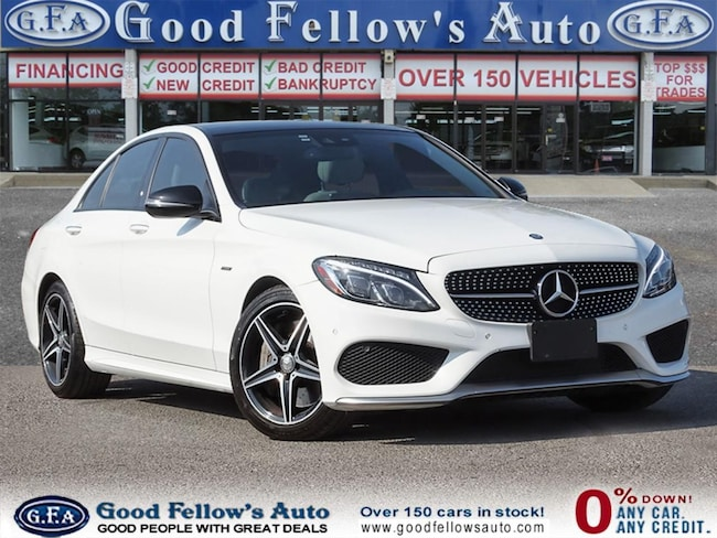 2016 Mercedes-Benz C450 4MATIC, PANORAMIC ROOF, BLIND SPOT MONITORING Sedan