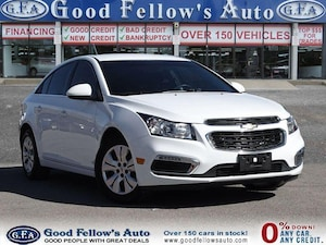 2016 Chevrolet Cruze LT MODEL, FWD, 1.4 LITER, RAERVIEW CAMERA