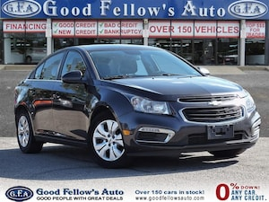 2015 Chevrolet Cruze 1LT MODEL, 4CYL, REARVIW CAMERA