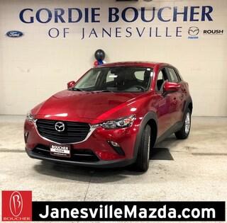 New 2019 Mazda Mazda CX-3 Sport SUV JM1DKFB71K0424198 for sale in Janesville, WI at Gordie Boucher Mazda of Janesville