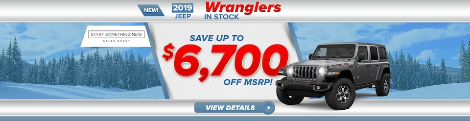 2019 Jeep Wrangler's Up To $6,700 off MSRP