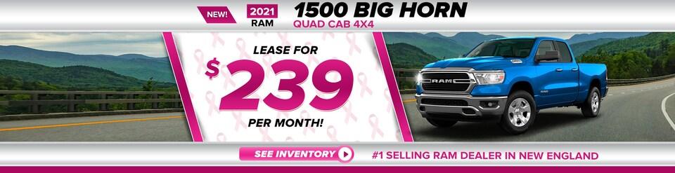 New 2021 Ram 1500 BIG HORN QUAD CAB 4X4 6'4 BOX Quad Cab