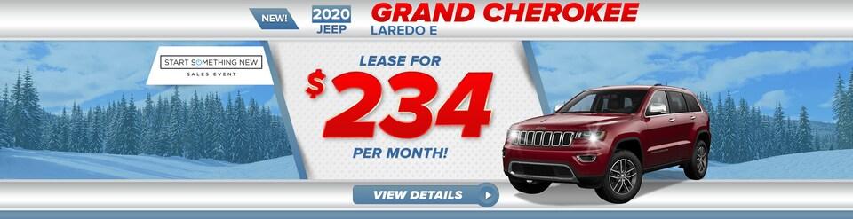 2020 Jeep Grand Cherokee Laredo E Lease For $234/Mo