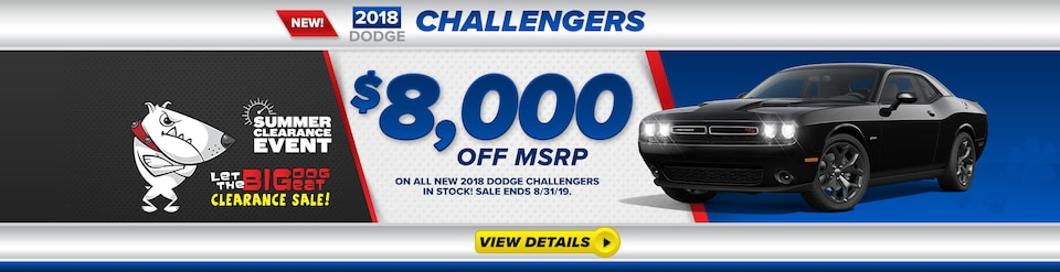 2018 Dodge Challengers $8,000 Off MSRP
