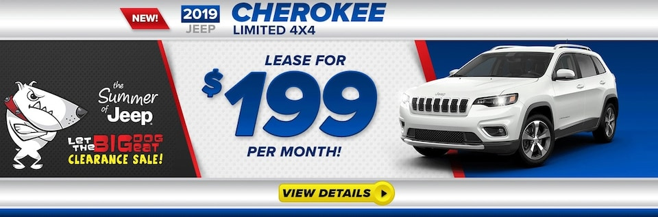 2019 Jeep Cherokee Lease For $199/Mo