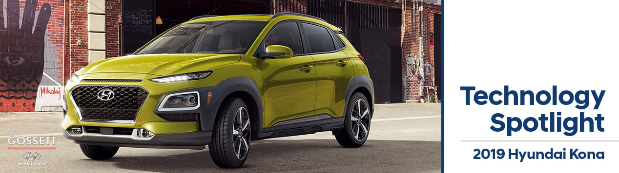 The 2019 Hyundai Kona at Gossett Hyundai South in Memphis, Tennessee