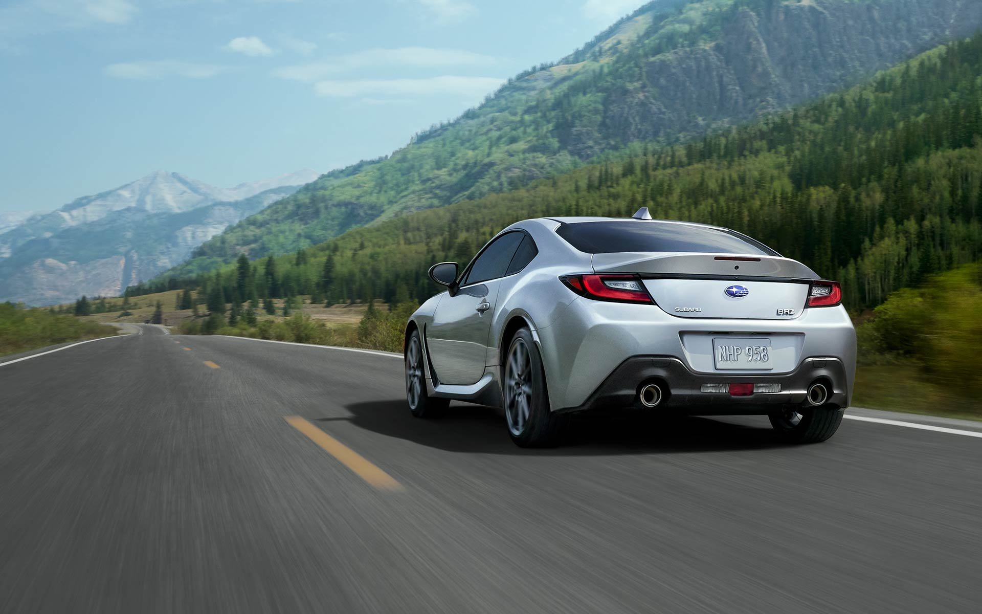 2022 Subaru BRZ driving on a mountain road