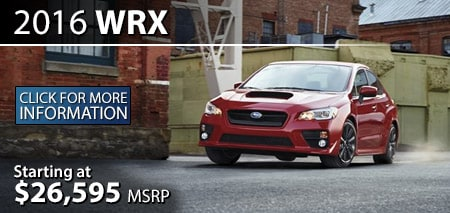 Learn more about the 2016 Subaru WRX
