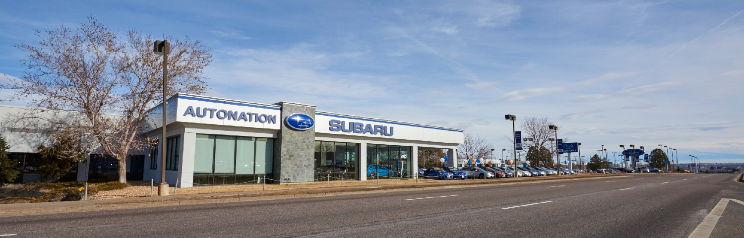 Exterior view of AutoNation Subaru Arapahoe serving Denver