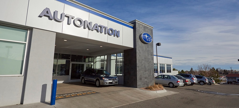 Day photo of AutoNation Subaru West Service Center Entrance