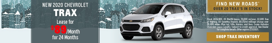 NEW 2020 CHEVROLET TRAX - Jan lease