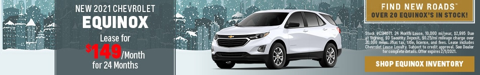NEW 2021 CHEVROLET EQUINOX - Jan