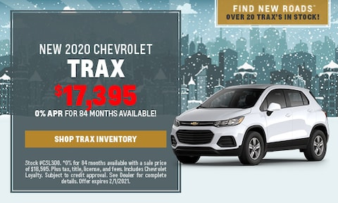 NEW 2020 CHEVROLET TRAX - Jan