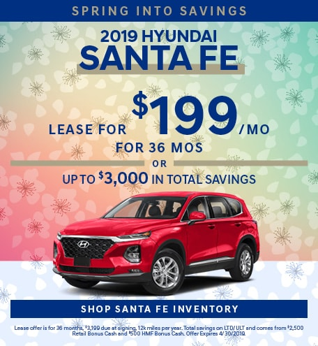 April 2019 Hyundai Santa Fe Lease