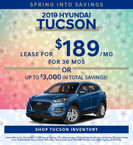April 2019 Hyundai Tucson Lease